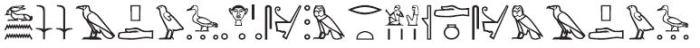 Djeser Djeseru Line 1 Glyphs