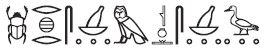 Djeser Djeseru Line 5 Glyphs